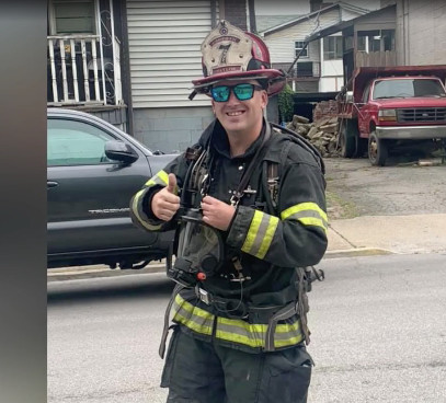 Benwood Fire Captain runs 8 miles geared up for a special cause