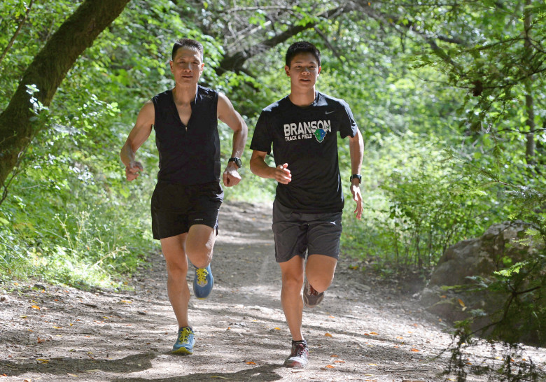 Refugee immigrant Hop Le and his 18-year-old son, Alex, are set to run the Dipsea this weekend