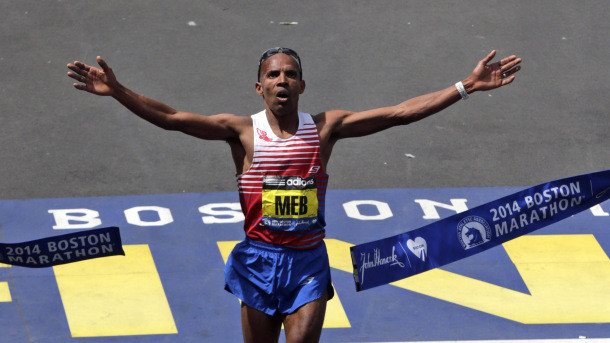 Meb Keflezighi became the first American male to win the Boston Marathon in 31 years in 2014