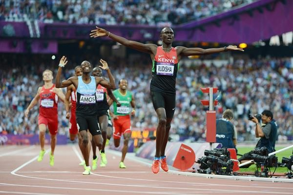David Rudisha's 2012 Olympic 800m triumph has been chosen as the athletics moment of the decade