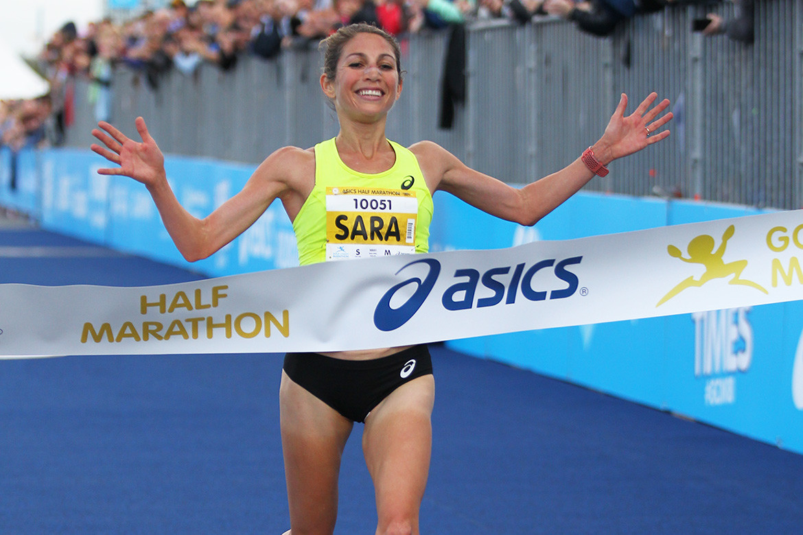 Sara Hall wins the Gold Coast Half Marathon in Australia today and then will be racing Peachtree on July 4th