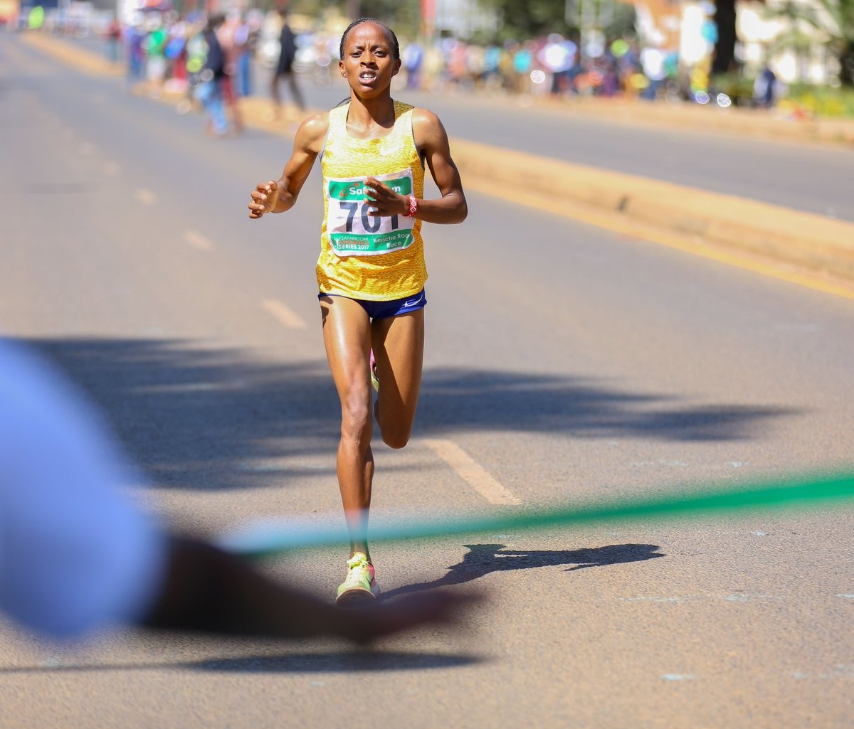 Evaline Chirchir hopes to cross the finish line first at the Dam Tot Damloop