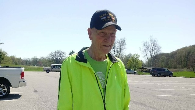 92-year-old Wally Ypma Has completed all but two Fifth Third River Bank Runs