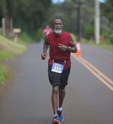 Terry Patterson says he's completed more than 10,000 miles running races