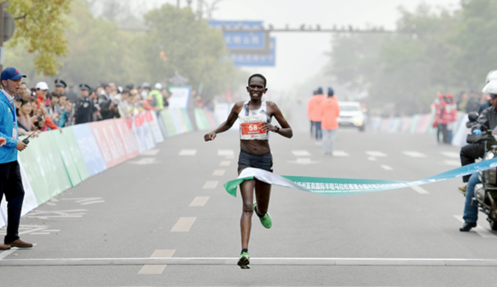Nengampi and Taegu are the winners at the Yangzhou Jianzhen half marathon in China