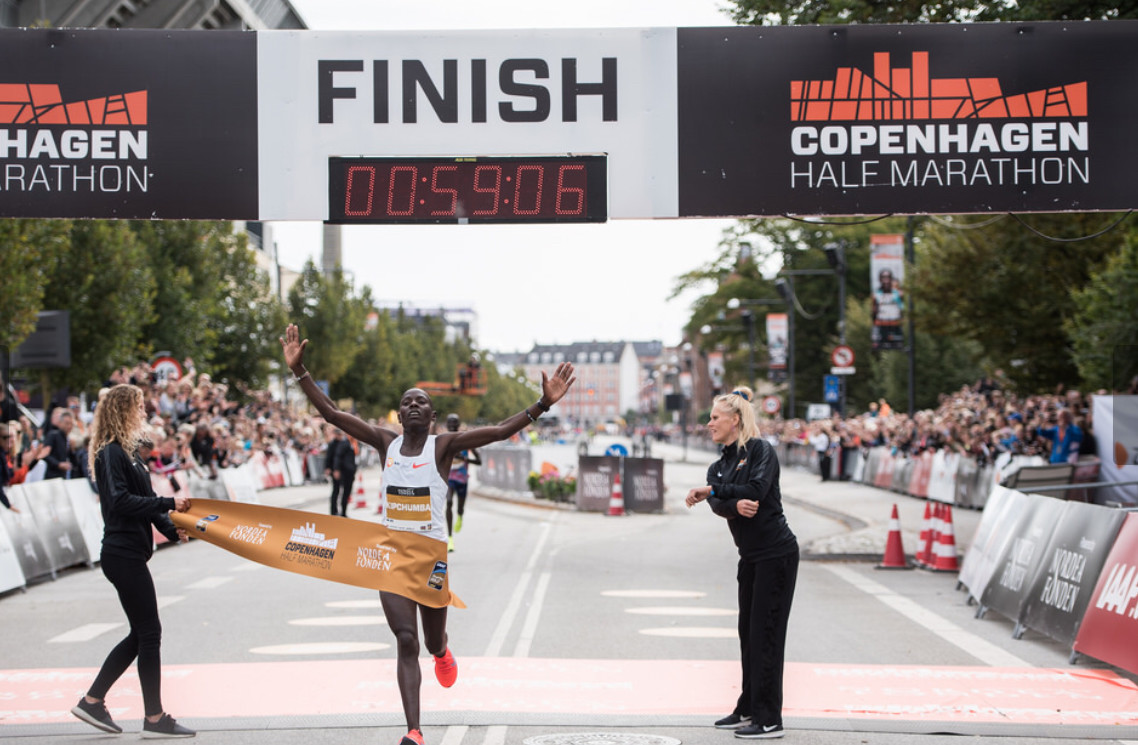 The stage was set for a World Half Marathon record in Copenhagen however they do not come that easy