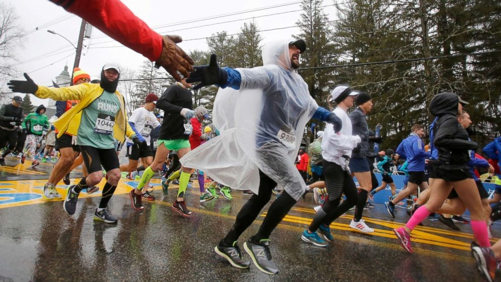 Because of wet and cool weather forecasted the Boston Marathon organizers are making some changes