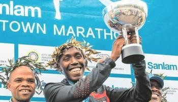 First time marathoner Debeko Dakamo Dasa won the very tough Soweto Marathon