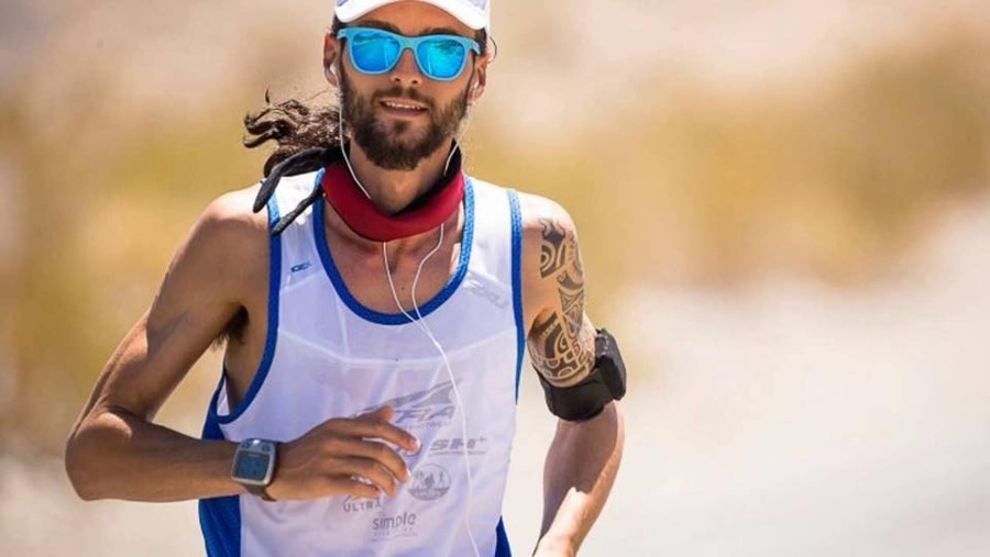 Michele 'Mickey' Graglia, wins the world's toughest foot race in extreme heat at the Badwater 135