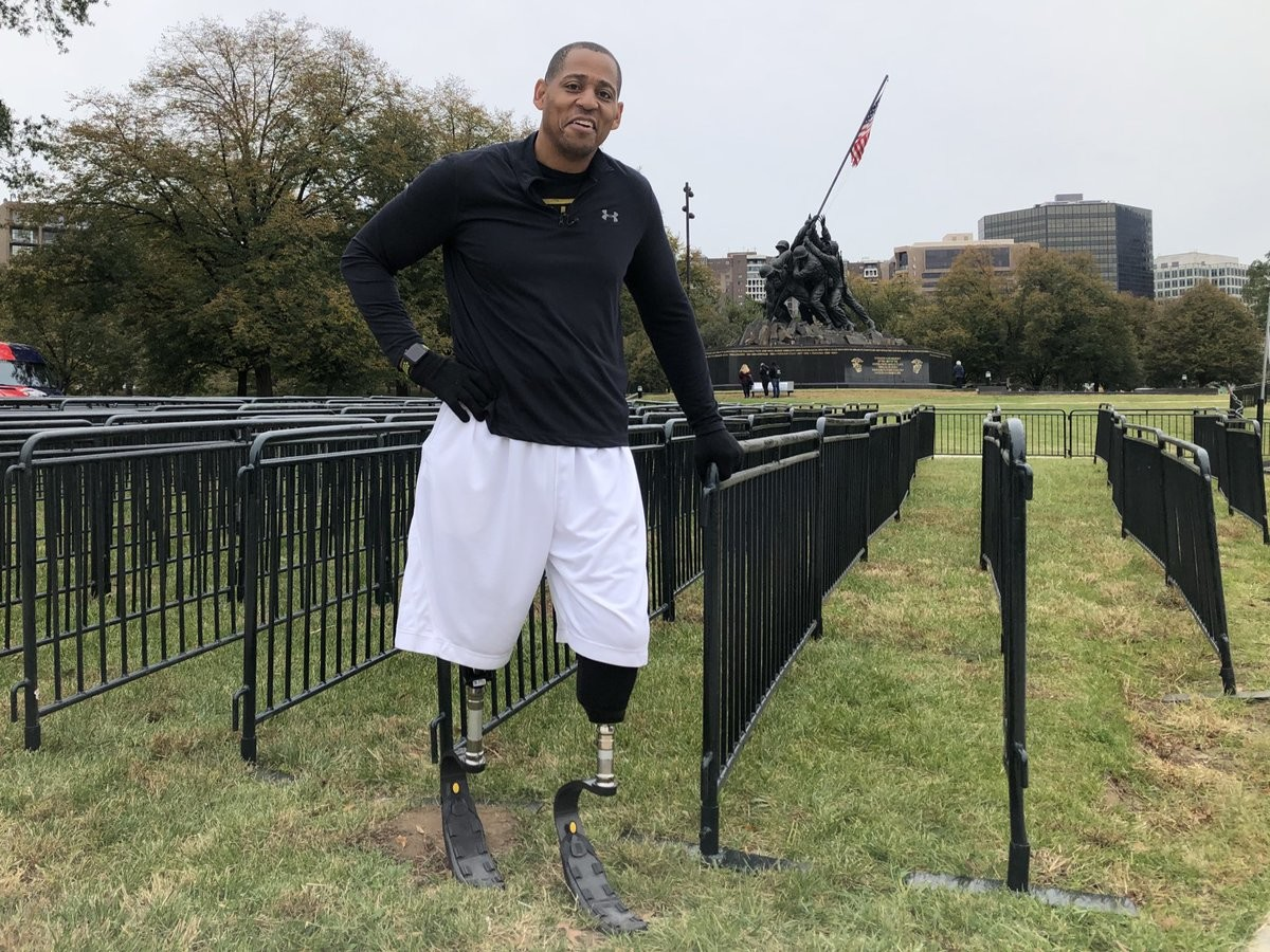 Cedric King is a double amputee that hopes to inspire others as he takes on the Cherry Blossom Run ten miller