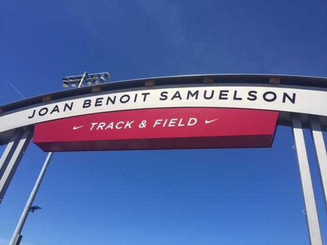 Joan Benoit Samuelson Track in Freeport Maine was officially opened today