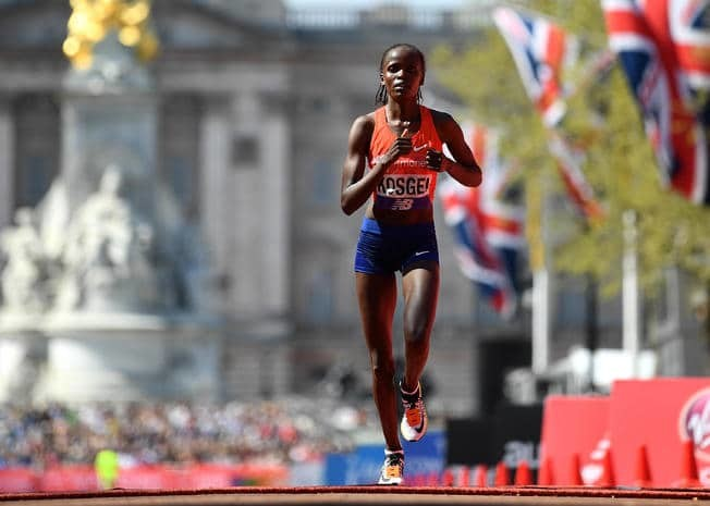 World record holder Brigid Kosgei will defend her title at the Virgin Money London Marathon