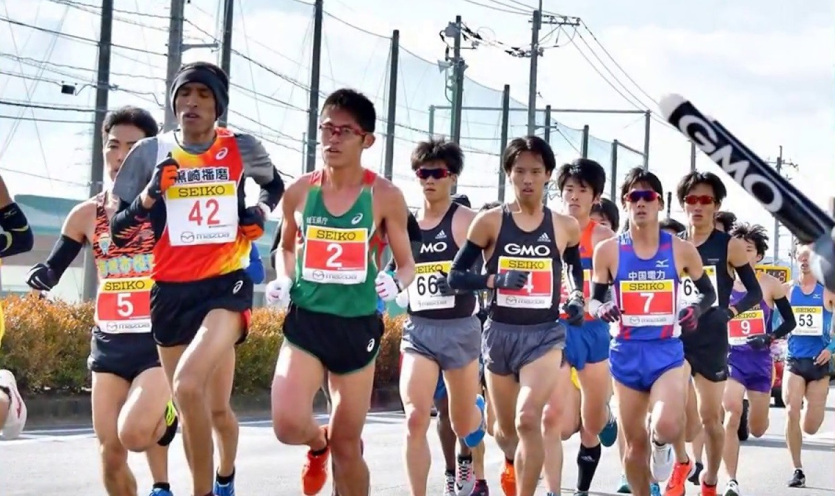 Yuki Kawauchi ran his 100th marathon at the Hofu Yomiuri Marathon in Japan