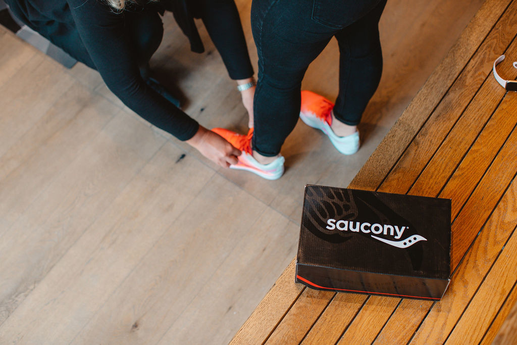 Saucony company announced almost 100 per cent of its new apparel will be made using renewable resources