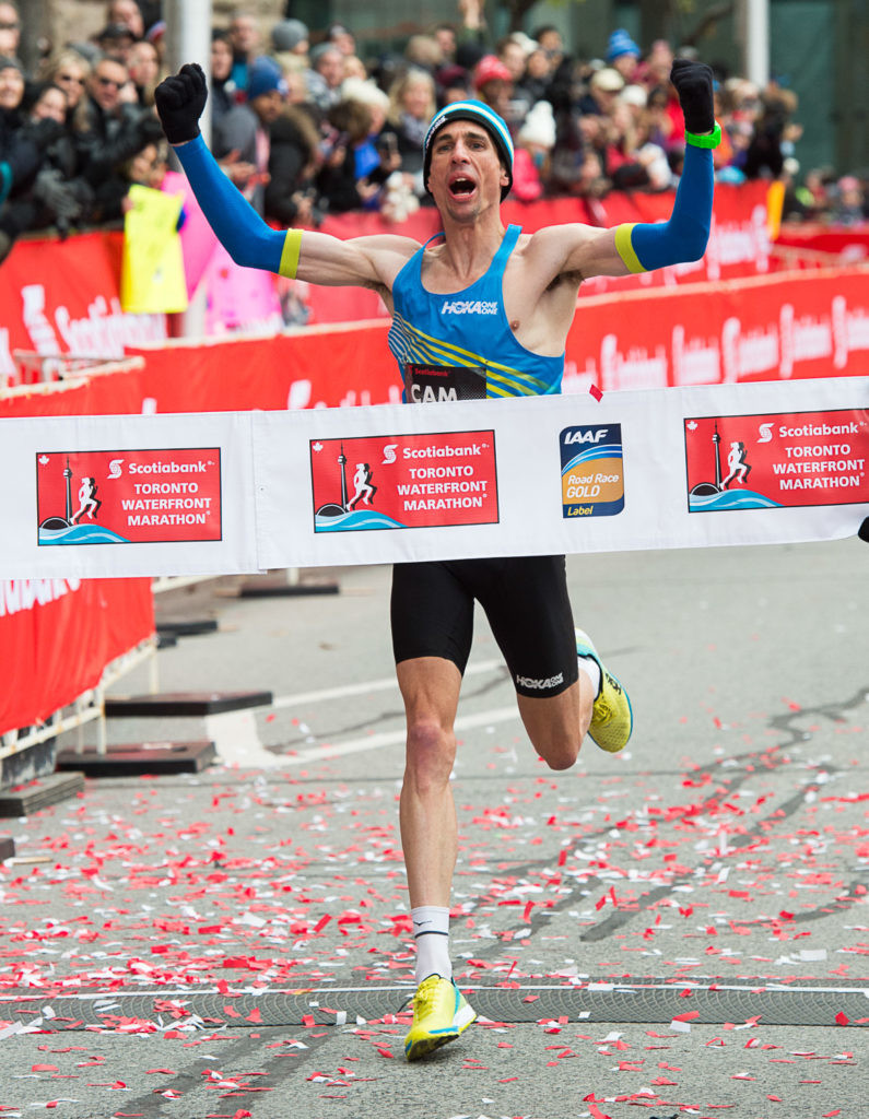 Cam Levins will return to the Scotiabank Toronto Waterfront Marathon to defend his national title and hopefully lower his own Canadian marathon record