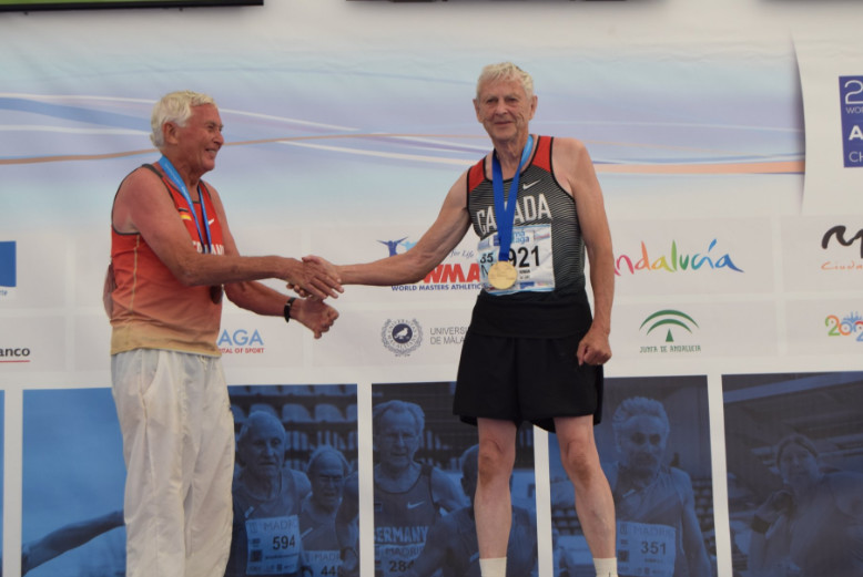 Canadian Ted Rowan,  smashed the M85 decathlon world record at the World Masters Athletics Championships in Malaga, Spain