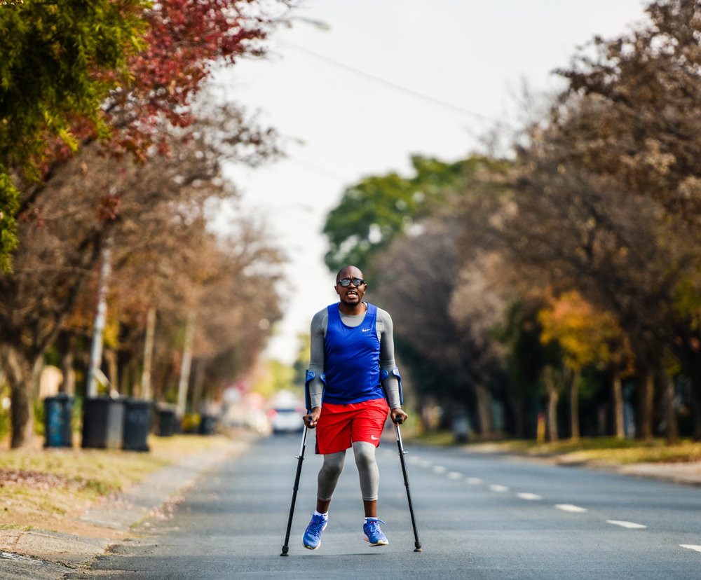 Crutch Runner, Ipeleng Khunou returns to take another stab at the Two Oceans Marathon