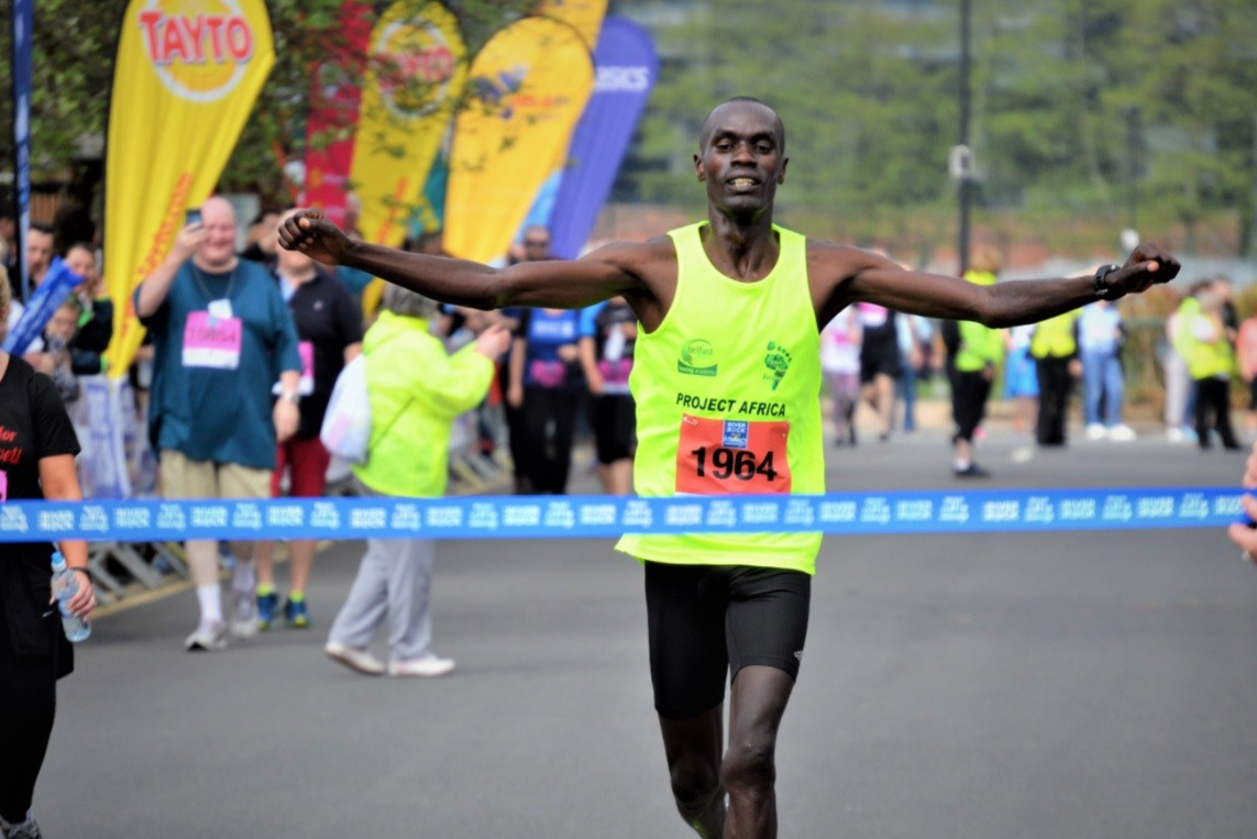 Current champion Eric Koech returns to defend his title at Belfast City Marathon this weekend
