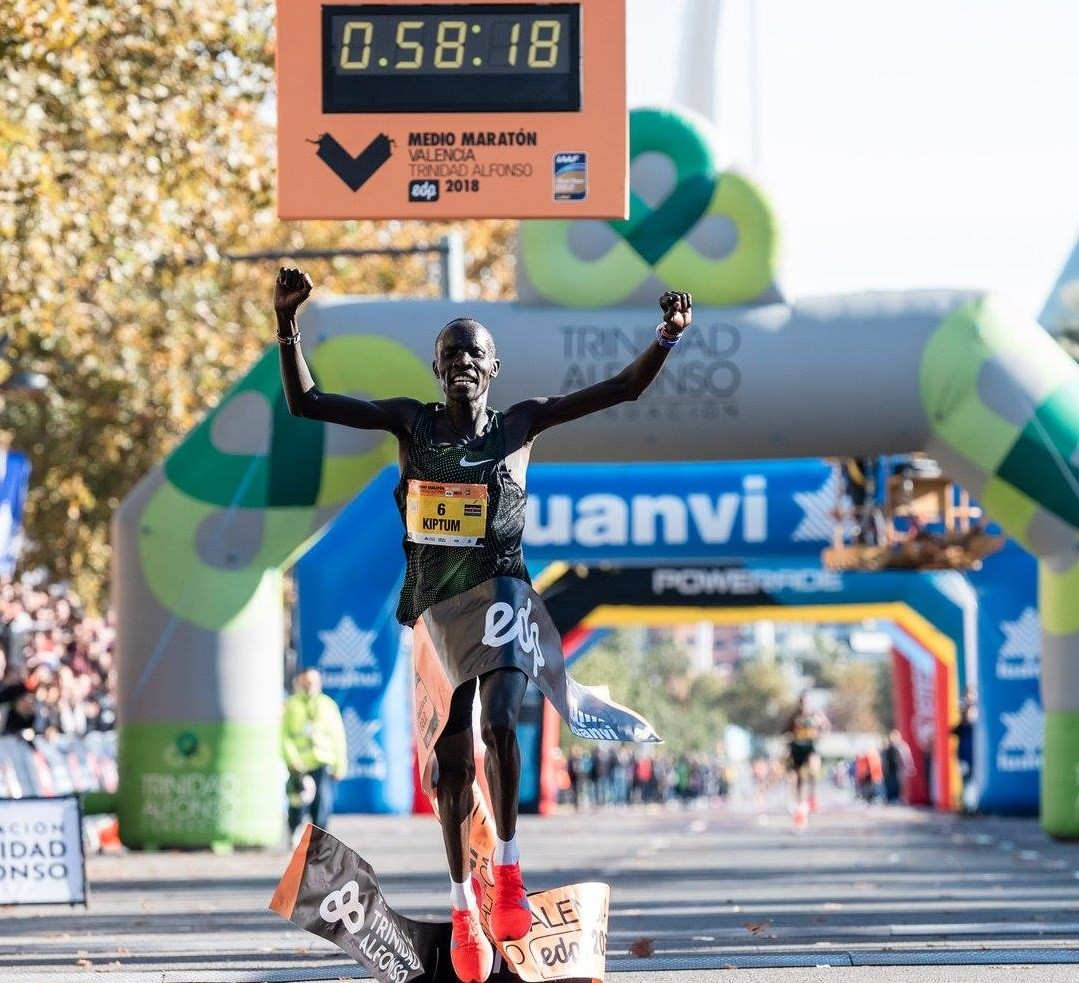 Half marathon world-record holder Kenyan Abraham Kiptum, suspended before London Marathon