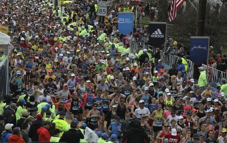 Boston Marathon was supposed to be run on Monday, and officials tell Boston Marathon runners to stay home, wait for official September start