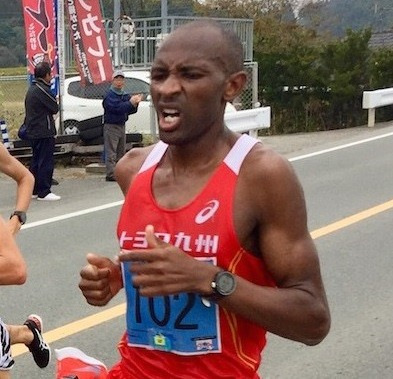 John Muritu improved the course record at Kumamoto Kosa 10-Mile Road Race to 45:56