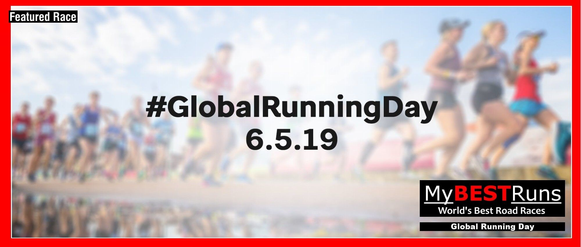 Happy Global Running Day!  Be sure to run, walk or jog at least one mile today!