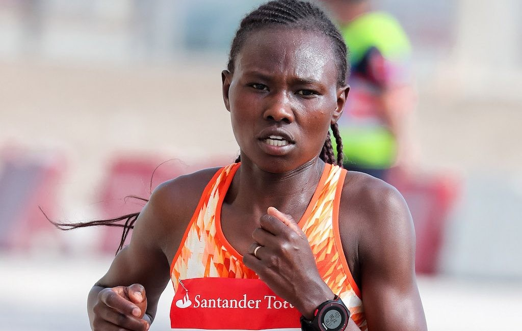 Ruth Chepngetich of Kenya and Ethiopia's Mare Dibaba are ready to compete at the Bogota Half Marathon