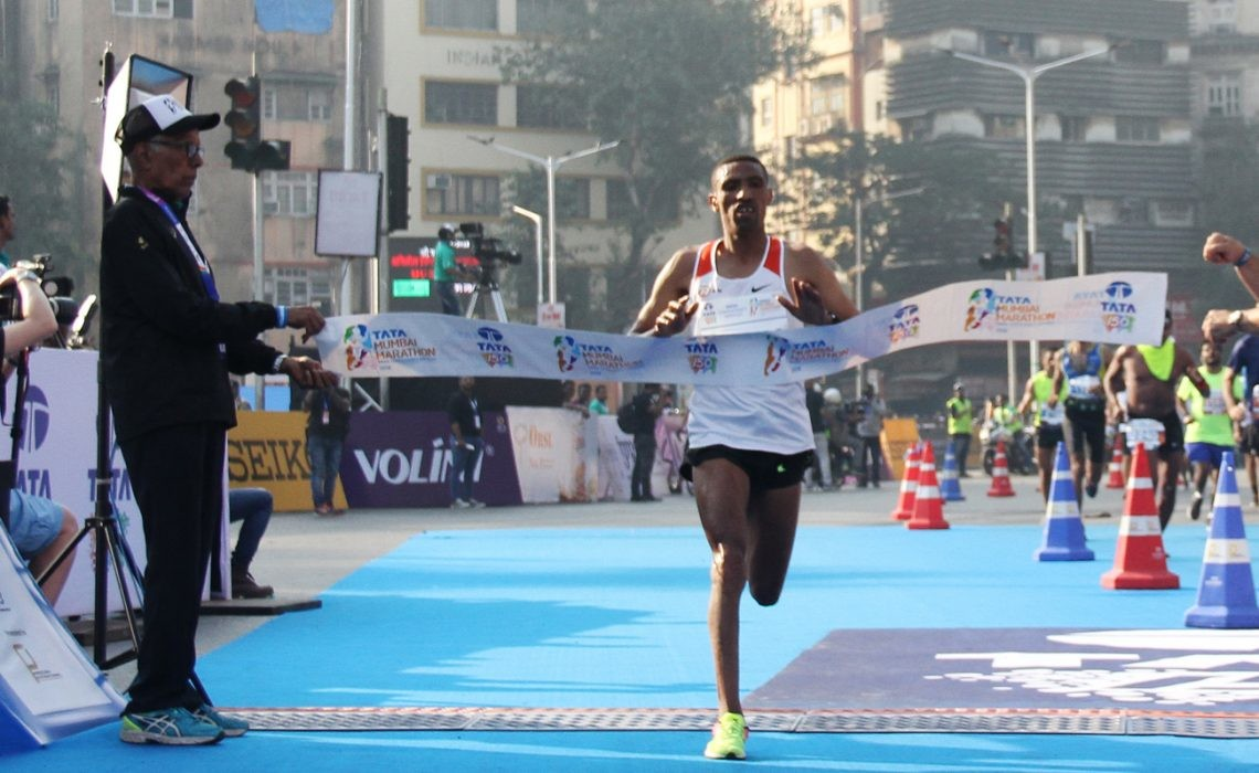 Ethiopian double triumph at the Tata Mumbai Marathon