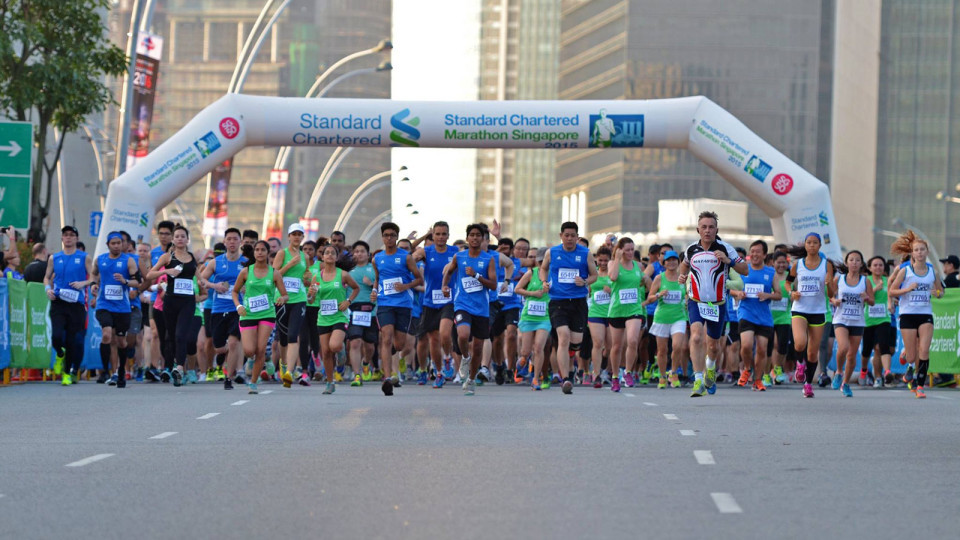 This year's Standard Chartered Singapore Marathon will be held at night for the first time in its history