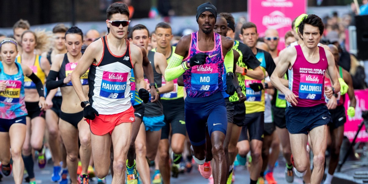 Only seconds separated the top three in Mo Farah's first race in six months