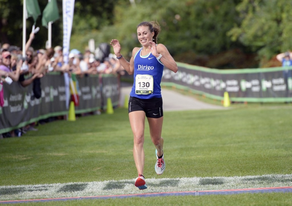Michelle Lilienthal, a three-time Maine women's champion of the Beach to Beacon 10K, will be seven months pregnant when she toes the line in Cape Elizabeth on Aug. 3