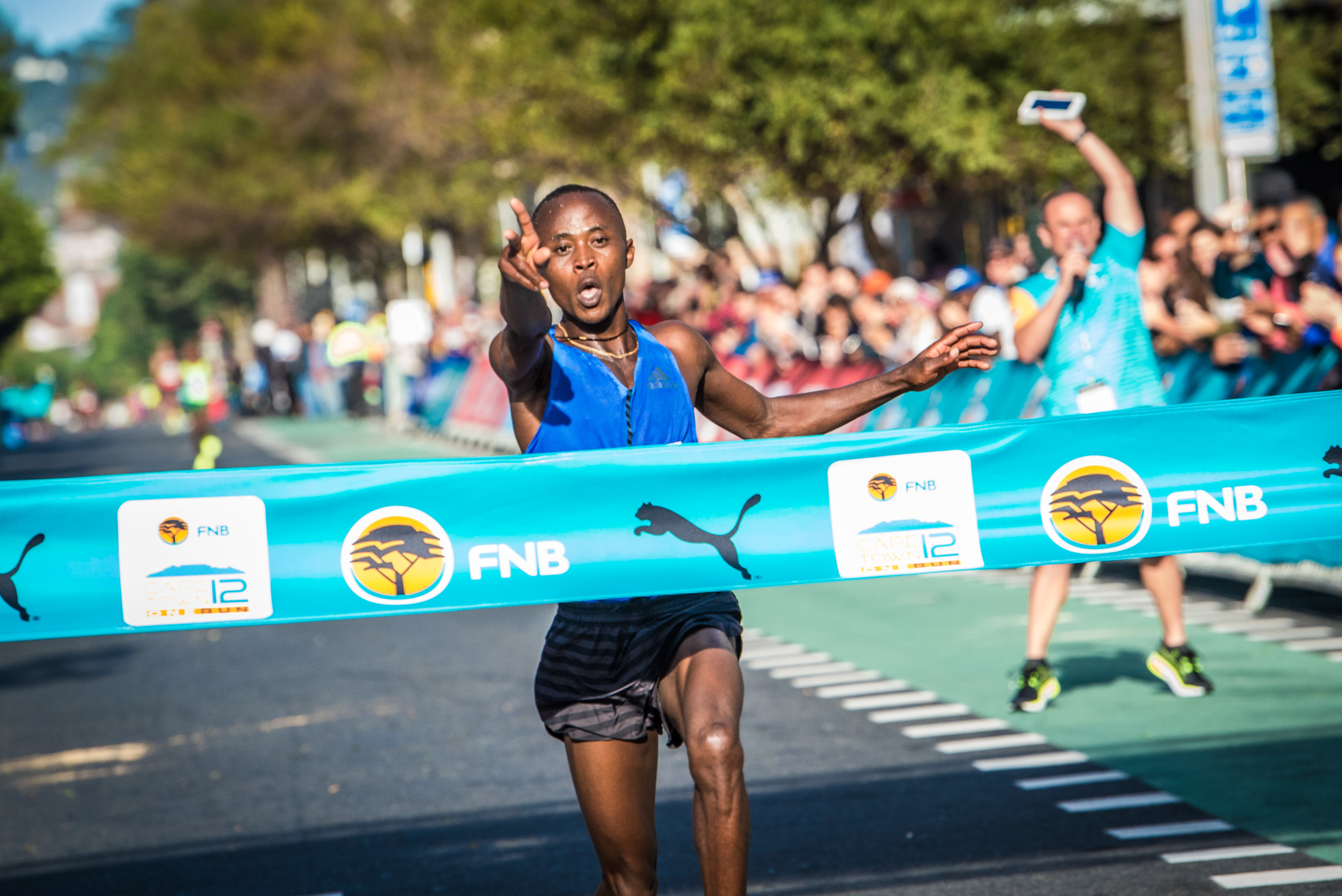 Morris Gachaga ran the world's best time for 12K in Cape Town last year and on Sunday wants to go faster