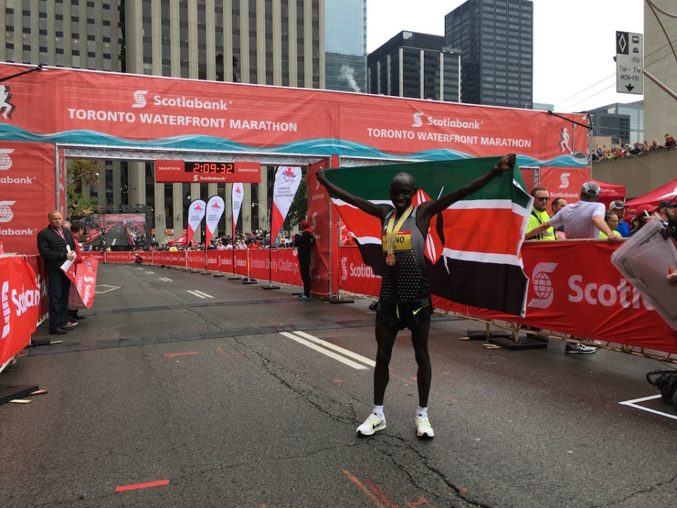 Kenya's Philemon Rono ran the fastest Marathon on Canadian soil last year at Scotiabank Toronto Waterfront is returning