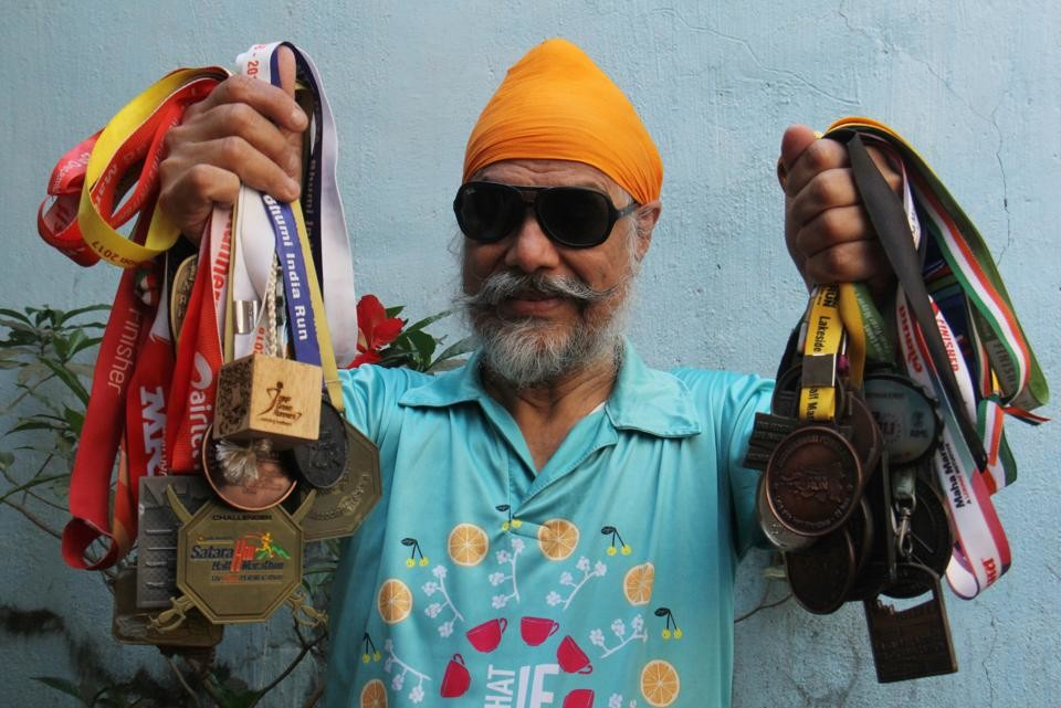 Amarjeet Singh Chawla lost his eyesight by age 40 but runs marathons to bring awareness about avoidable blindness