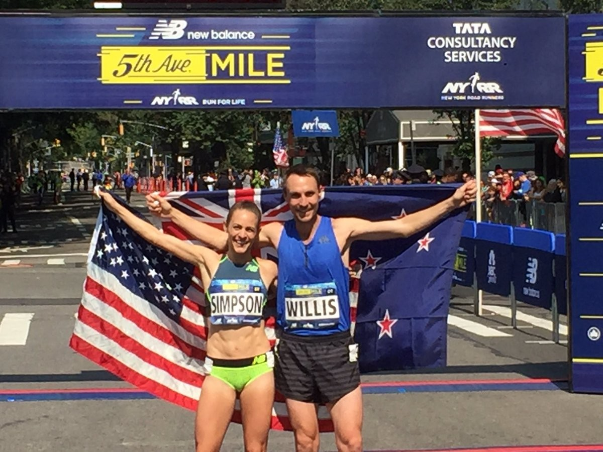 Three-time World Championships medalist Jenny Simpson and Nick Willis to Race the New Balance 5th Avenue Mile