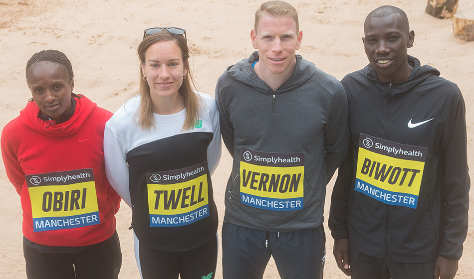 Hellen Obiri, Steph Twell, Andy Vernon and Stanley Biwott are among the big names racing the Great Manchester 10km on Sunday