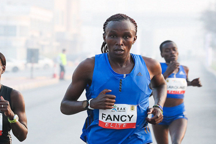 Kenya's Fancy Chemutai has announced her return to training after shaking off a hamstring injury
