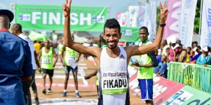 Bahrain's Dawit Fikadu and Kenya's Sheila Chelangat emerged victorious at the Okpekpe Road Race