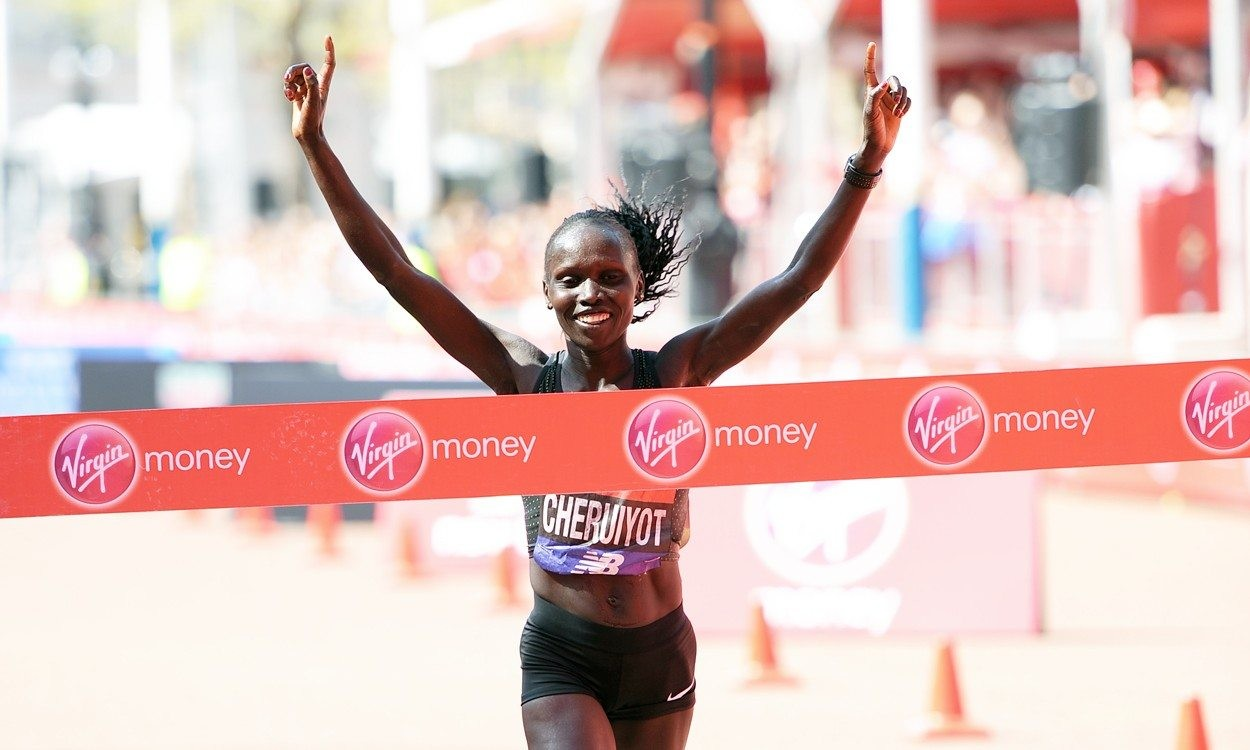 Vivian Cheruiyot wins the hottest London Marathon on record