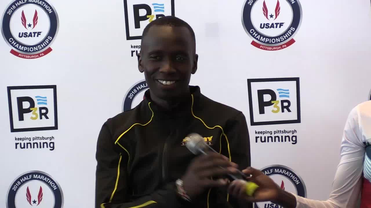 Leonard Korir and Stephanie Bruce won the USATF Half Marathon titles in Pittsburgh