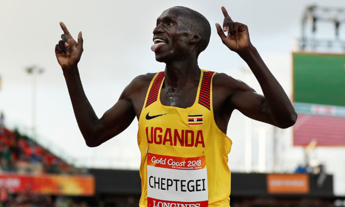Joshua Cheptegei will return to action at the Dam tot Damloop