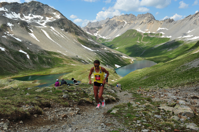 The weather was an additional challenge at the Swiss Alpine Marathon