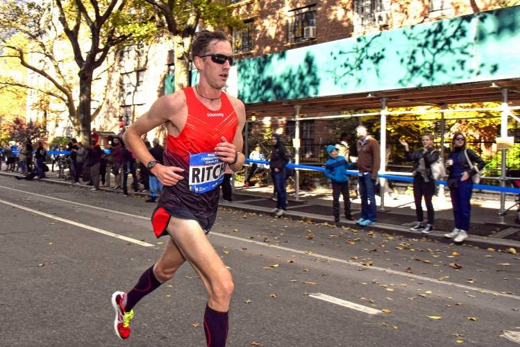 America's Tim Ritchie is hoping to run well in the New York City Marathon on Sunday