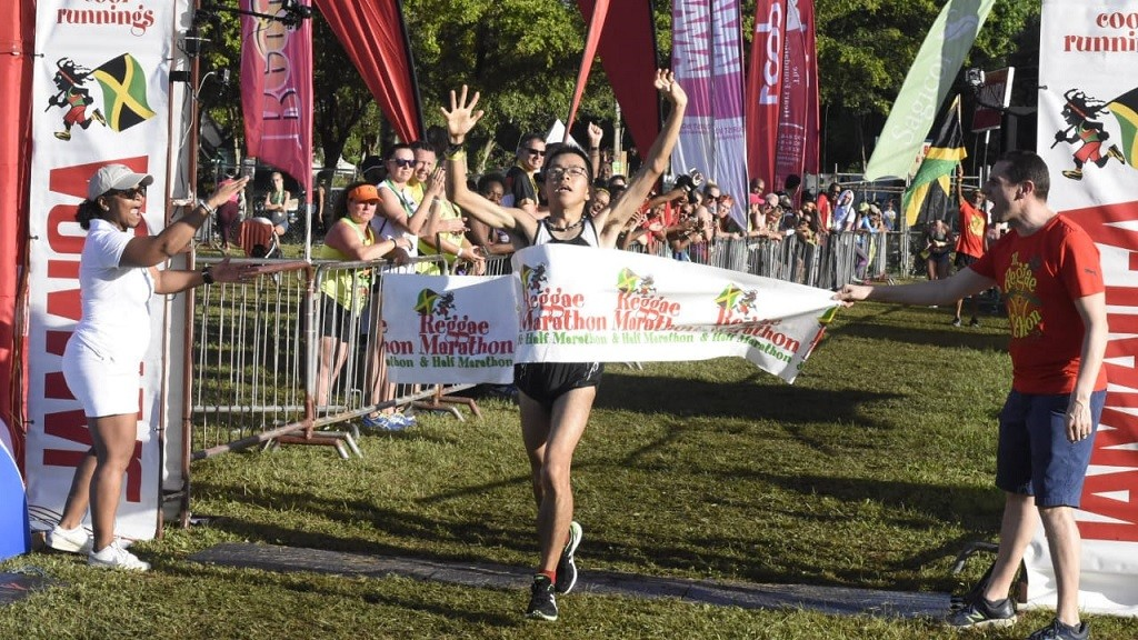 The Reggae Marathon was Japan's Daichi Okano third marathon and first win