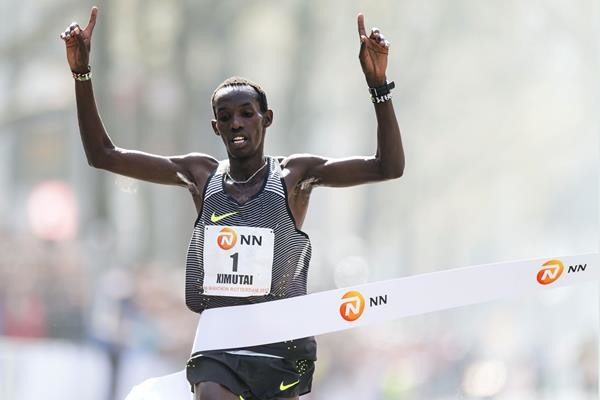 KIMUTAI BREAKS COURSE RECORD IN HANGZHOU