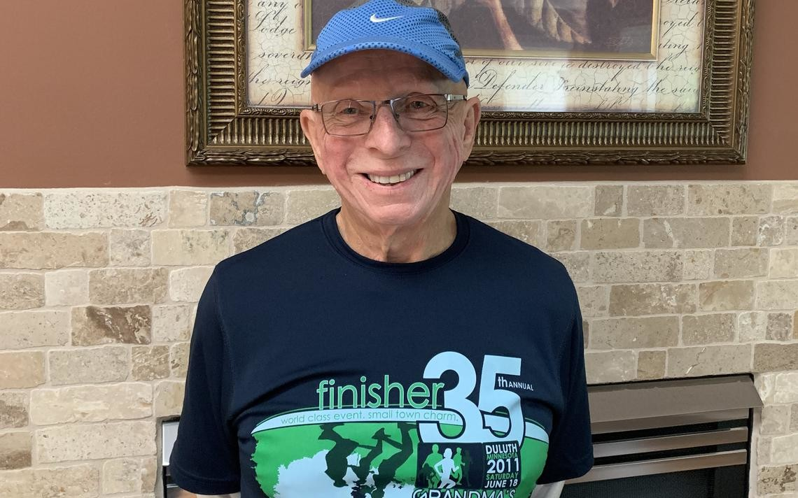 Darrell Christensen will be the oldest runner in the Grandma's Marathon as he is set for his eighth race