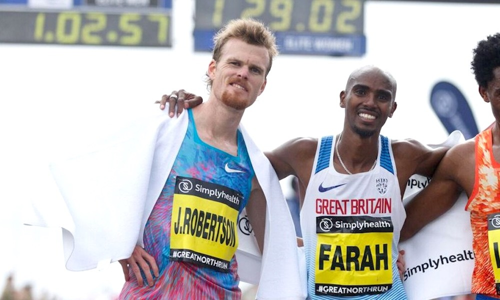 Jake Robertson and Mo Farah are ready to battle at Great North Run, the duo will go head-to-head once again