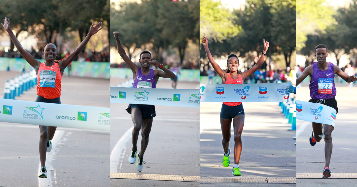 Past winners are set to defend their title at Houston Marathon and Half Marathon