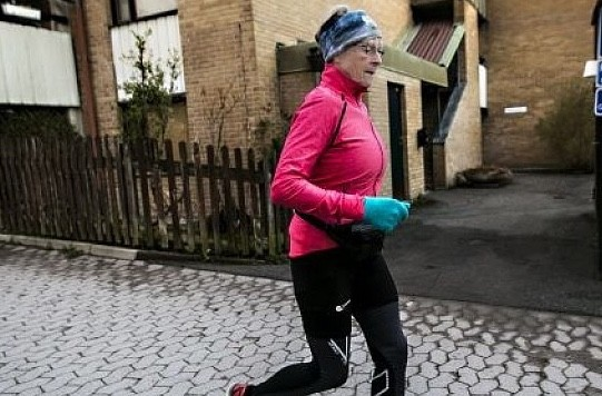 78-year-old EIna Roxström is running her 40th Stockholm marathon