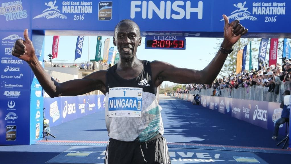 Master Runner Kenyan´s Mungara knows the course well and hopes to win the  Commonwealth Games Marathon